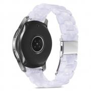Pulseira 3 Elos Resina compatível com Samsung Galaxy Watch 3 45mm - Galaxy Watch 46mm - Gear S3 Frontier - Amazfit GTR 47mm - GTR 2 (Branco Perola)