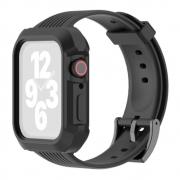 Pulseira Capa Armadura compatível com Apple Watch 44mm Series 4, 5, 6 e SE (Preto)
