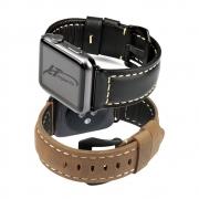 Pulseira Couro BK compatível com Apple Watch 44mm e Apple Watch 42mm