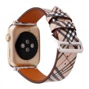 Pulseira Couro Listrada compatível com Apple Watch 44mm e Apple Watch 42mm