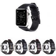 Pulseira de Couro Carbon compatível com Apple Watch 40mm e 38mm