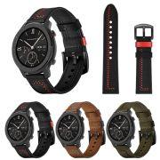 Pulseira Couro Especial compatível com Samsung Galaxy Watch 3 45mm - Galaxy Watch 46mm - Gear S3 Frontier - Amazfit GTR 47mm