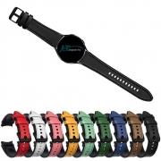 Pulseira de Couro Híbrido compatível com Samsung Galaxy Watch 4 40mm - Galaxy Watch 4 44mm - Galaxy Watch 4 Classic 42mm - Galaxy Watch 4 Classic 46mm