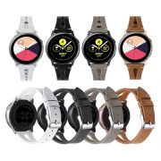 Pulseira Couro V-Design compatível com Samsung Galaxy Watch Active 40mm 44mm - Galaxy Watch 3 41mm - Galaxy Watch 42mm - Amazfit GTR 42mm Amazfit Bip