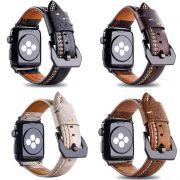Pulseira de Couro Line compatível com Apple Watch 44mm e 42mm