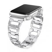 Pulseira Luxury compatível com Apple Watch 40mm e 38mm (PRATA)