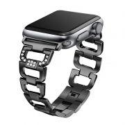 Pulseira Luxury compatível com Apple Watch 44mm e 42mm (PRETO)