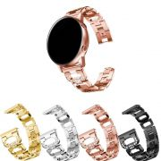 Pulseira Luxury 20mm compatível com Samsung Galaxy Watch Active 40mm 44mm - Galaxy Watch 3 41mm - Galaxy Watch 42mm - Amazfit GTR 42mm