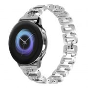 Pulseira Luxury Slim compatível com Galaxy Watch Active 40mm 44mm - Galaxy Watch 3 41mm - Galaxy Watch 42mm - Amazfit GTR 42mm - Amazfit Bip (PRATA)