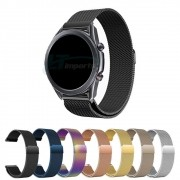 Pulseira Magnética Milanese compatível com Samsung Galaxy Watch 3 45mm - Galaxy Watch 46mm - Gear S3 Frontier - Amazfit GTR 47mm Huawei Watch GT2 46mm