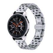 Pulseira Metal 5 Elos para Samsung Galaxy Watch 46mm - Gear S3 Frontier - Amazfit GTR 47mm - Amazfit Stratos 3