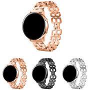 Pulseira Metal Borboleta compatível com Samsung Galaxy Watch Active 40mm 44mm - Galaxy Watch 3 41mm - Galaxy Watch 42mm - Amazfit GTR 42mm