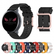 Pulseira Moderna V2 20mm Fivela Rose compatível com Samsung Galaxy Watch 3 41mm - Galaxy Watch Active - Galaxy Watch 42mm - Amazfit Bip