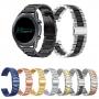 Pulseira 22mm Metal 3 Elos compatível com Samsung Galaxy Watch 3 45mm - Galaxy Watch 46mm - Gear S3 Frontier - Amazfit GTR 47mm