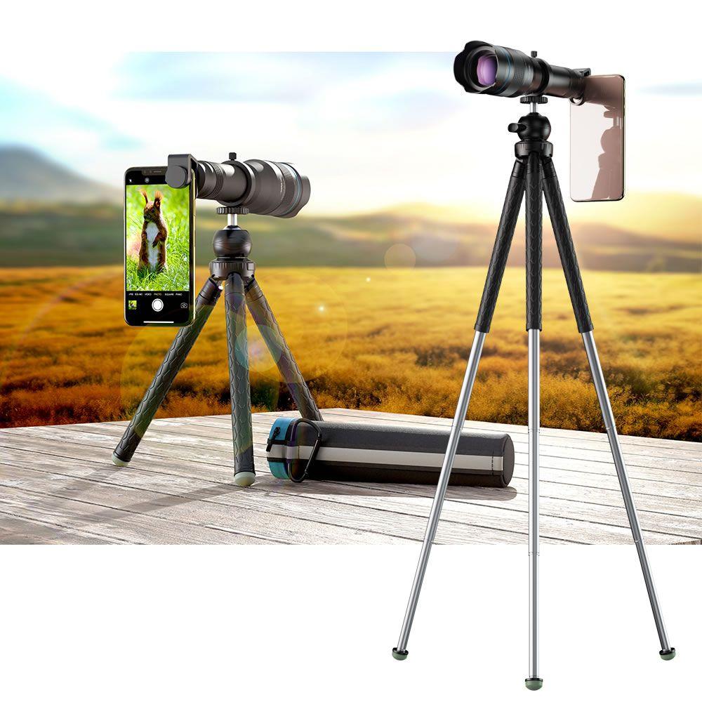 Apexel Super Lente Telescópio Zoom 60X HD Universal para Celulares - Tripe Ajustável - Modelo APL-JS60XJJ09