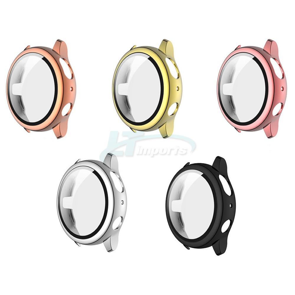 Capa Case com Película de Vidro 3D compatível com Samsung Galaxy Watch Active 2 44mm SM-R820 e SM-R825