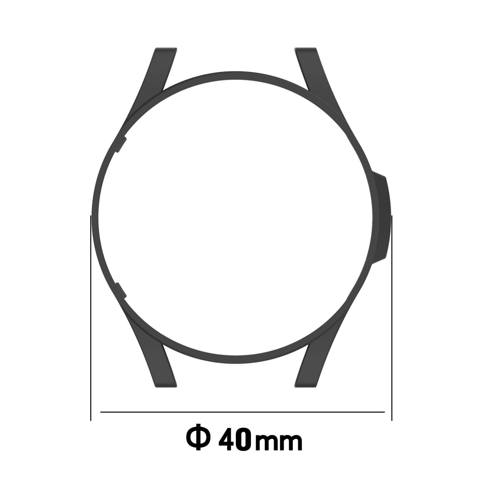 Capa Protetora PC Bumper Case compatível com Samsung Galaxy Watch 4 40mm SM-R860 / SM-R865