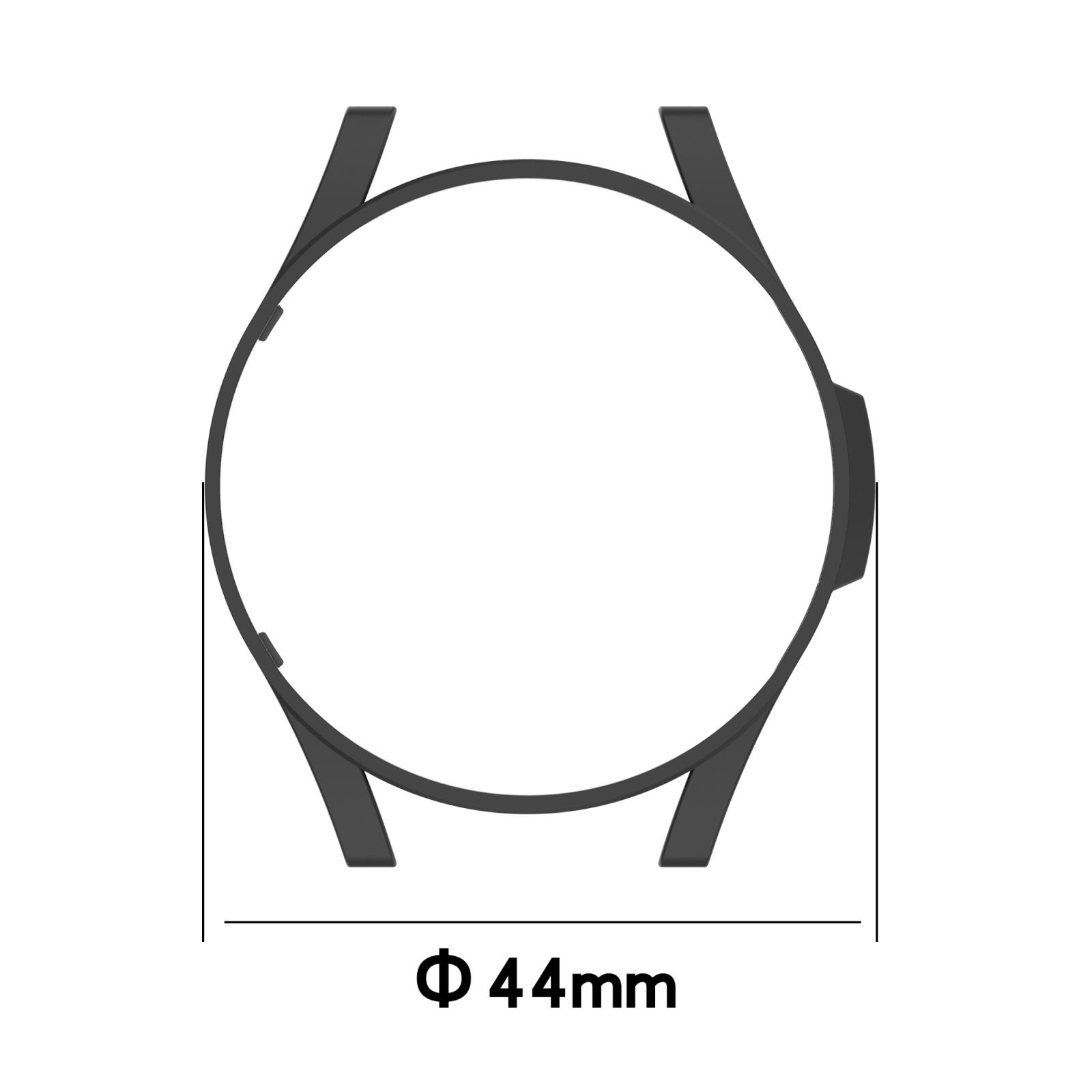 Capa Protetora PC Bumper Case compatível com Samsung Galaxy Watch 4 44mm SM-R870 / SM-R875