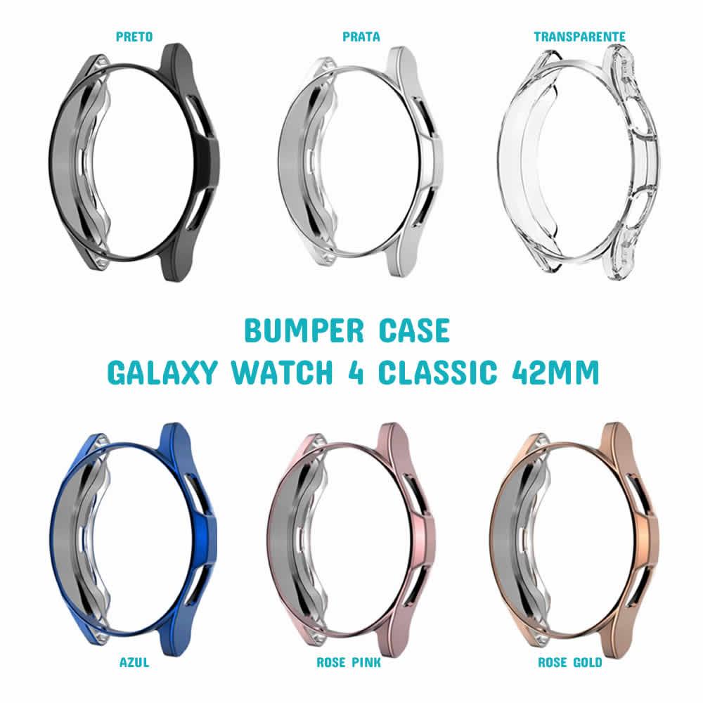 Capa Protetora TPU Bumper Case compatível com Samsung Galaxy Watch 4 Classic 42mm SM-R880 / SM-R885