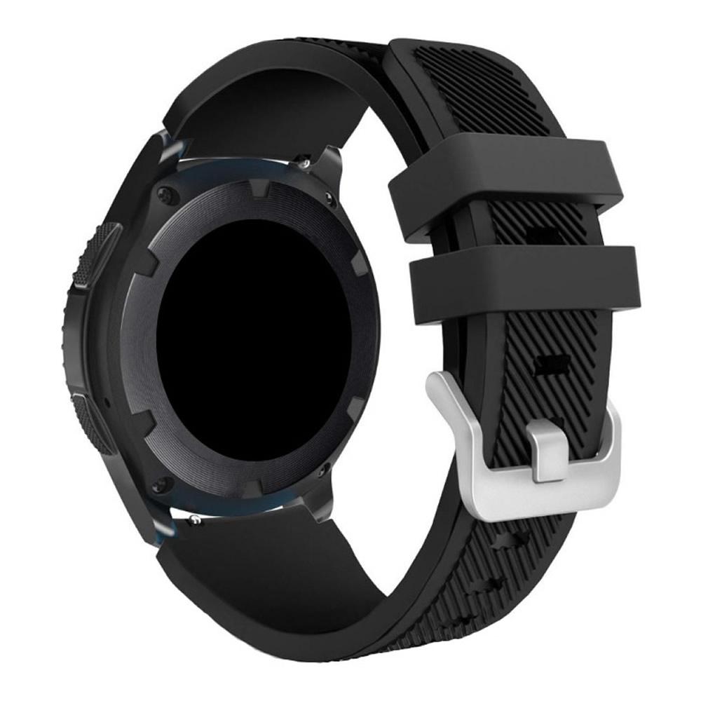 KIT Pulseira + Capa Protetora Bumper compatível com Galaxy Watch 3 45mm (PRETO)