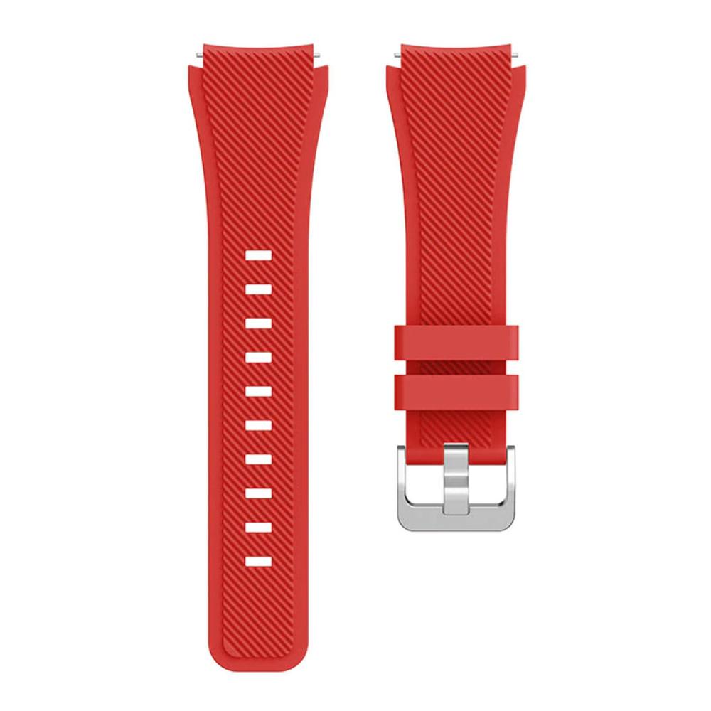KIT Pulseira + Capa Protetora Bumper compatível com Galaxy Watch 3 45mm (VERMELHO)