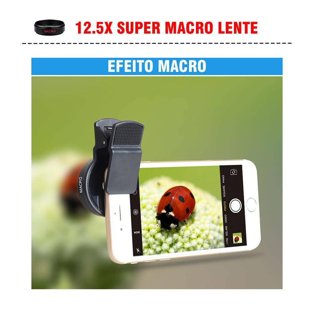 Lente Apexel Universal para Celulares Super Wide Angle e Macro - Modelo APL-0.45WM