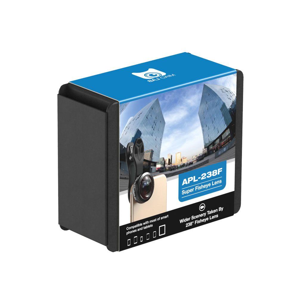 Lente Ultra HD Apexel - Lente Fisheye 238º Universal para Celular - Olho de Peixe com 238º Graus - Super Lente - Modelo APL-238F
