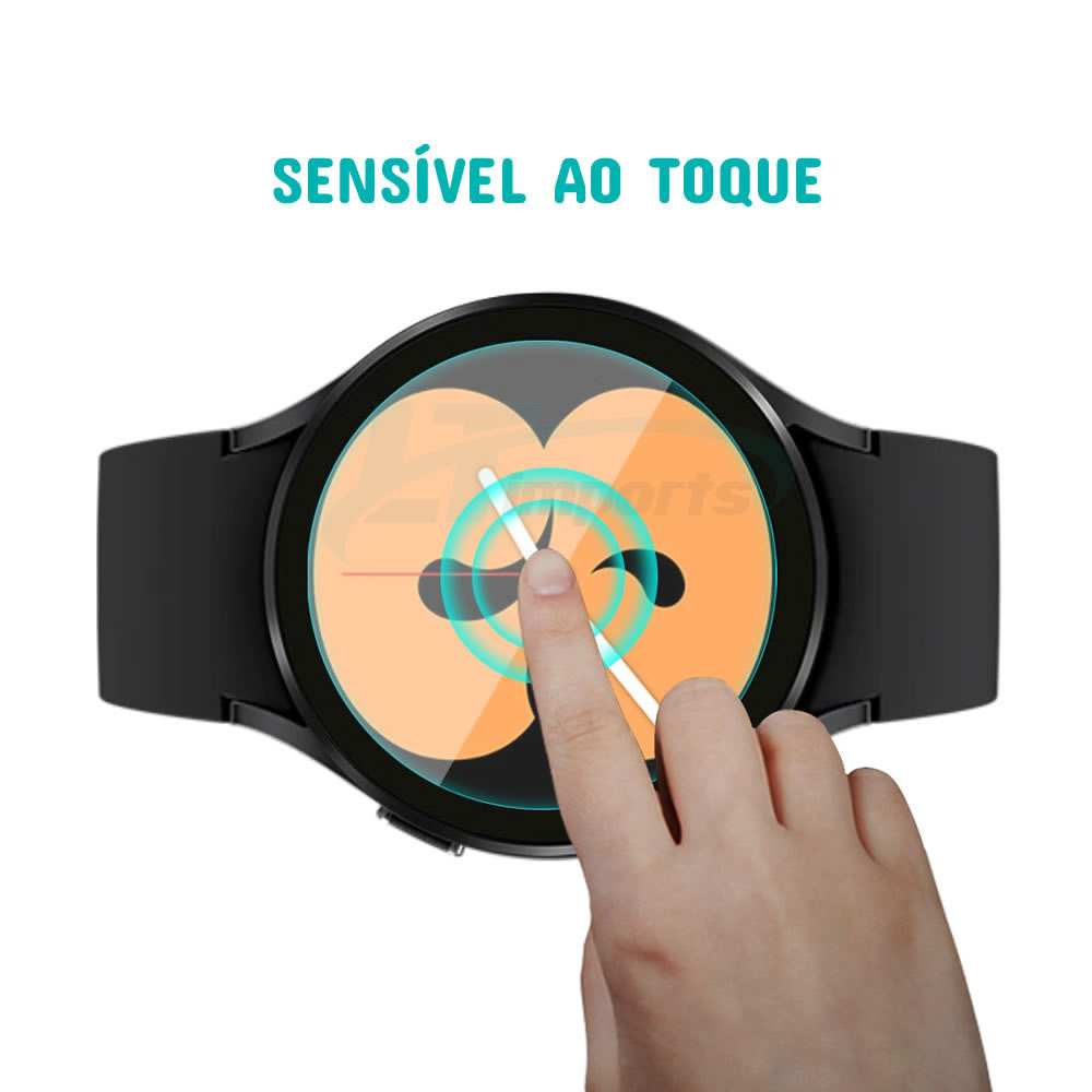Película de Vidro compatível com Samsung Galaxy Watch 4 44mm SM-R870 / SM-R875