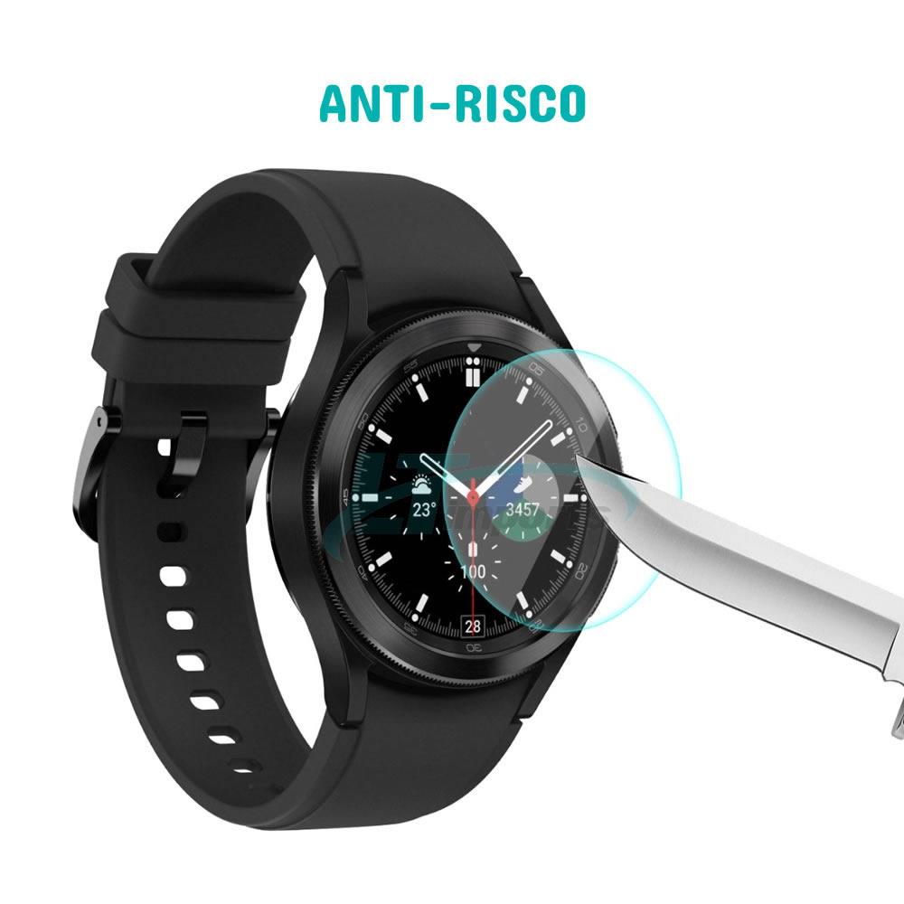 Película de Vidro compatível com Samsung Galaxy Watch 4 Classic 42mm SM-R880 / SM-R885