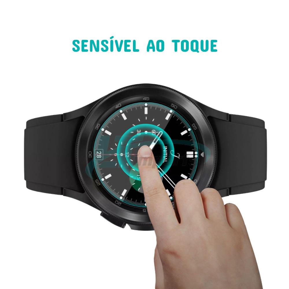 Película de Vidro compatível com Samsung Galaxy Watch 4 Classic 46mm SM-R890 / SM-R895