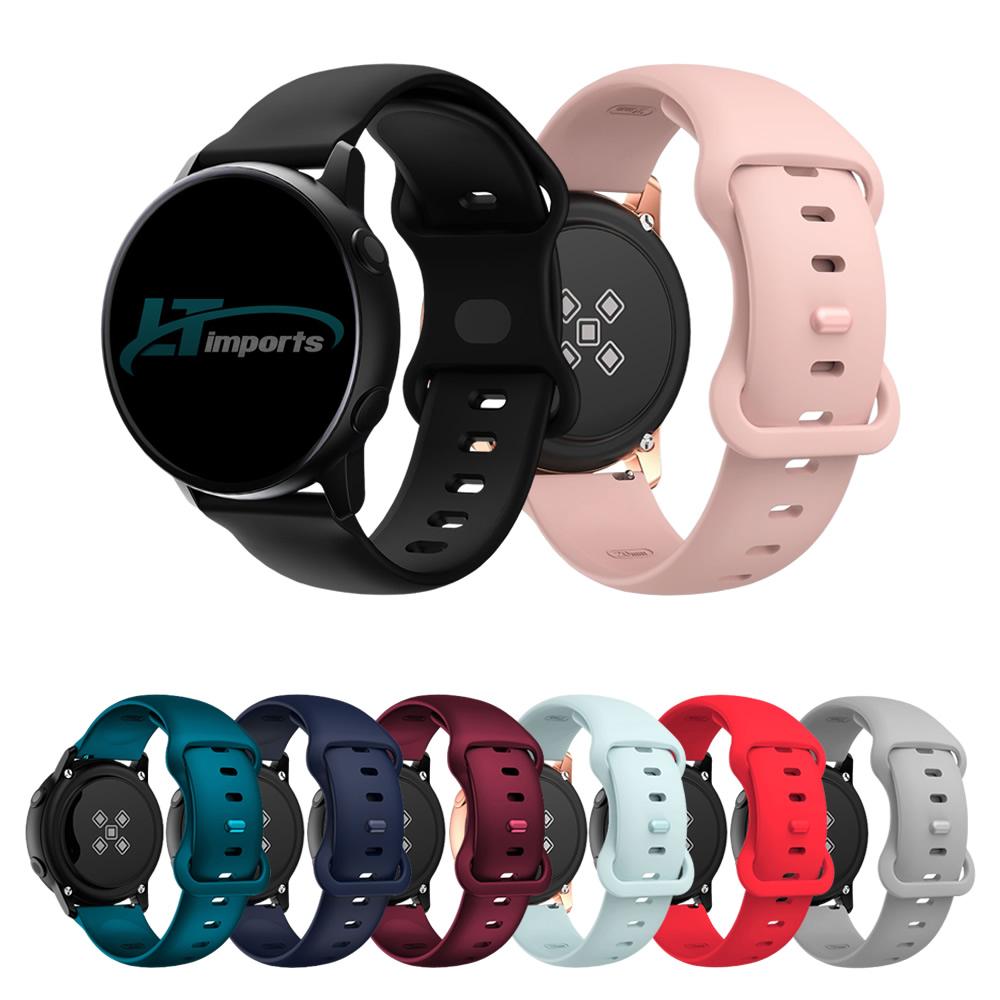 Pulseira 20mm Sport Borboleta compatível com Galaxy Watch Active 1 e 2 - Galaxy Watch 3 41mm - Galaxy Watch 42mm - Amazfit GTR 42mm - Amazfit Bip - Amazfit Gts