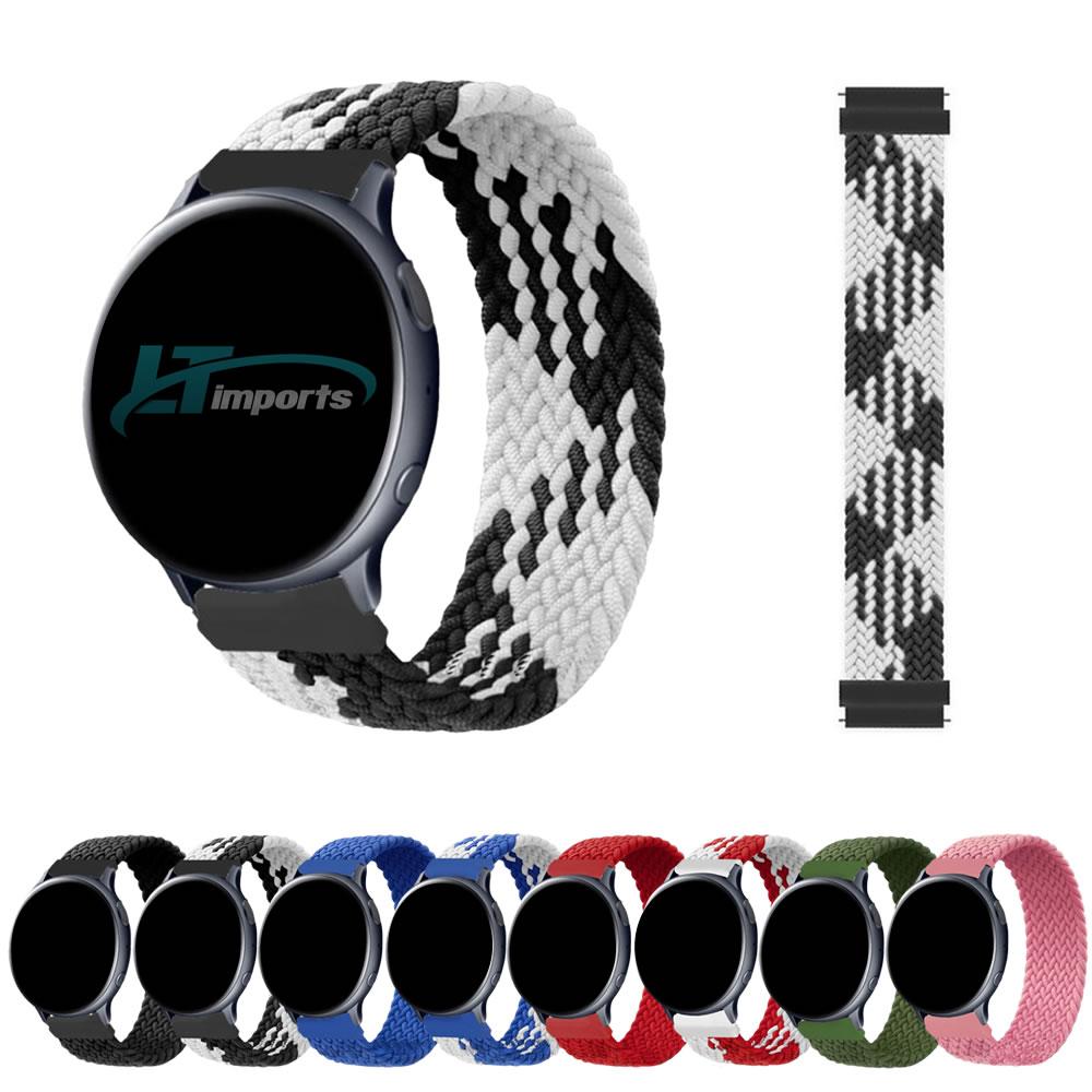 Pulseira 20mm Trançada Infinito compatível com Galaxy Watch 3 41mm - Galaxy Watch Active 1 e 2 - Galaxy Watch 42mm - Amazfit BIP - GTS - GTR 42mm
