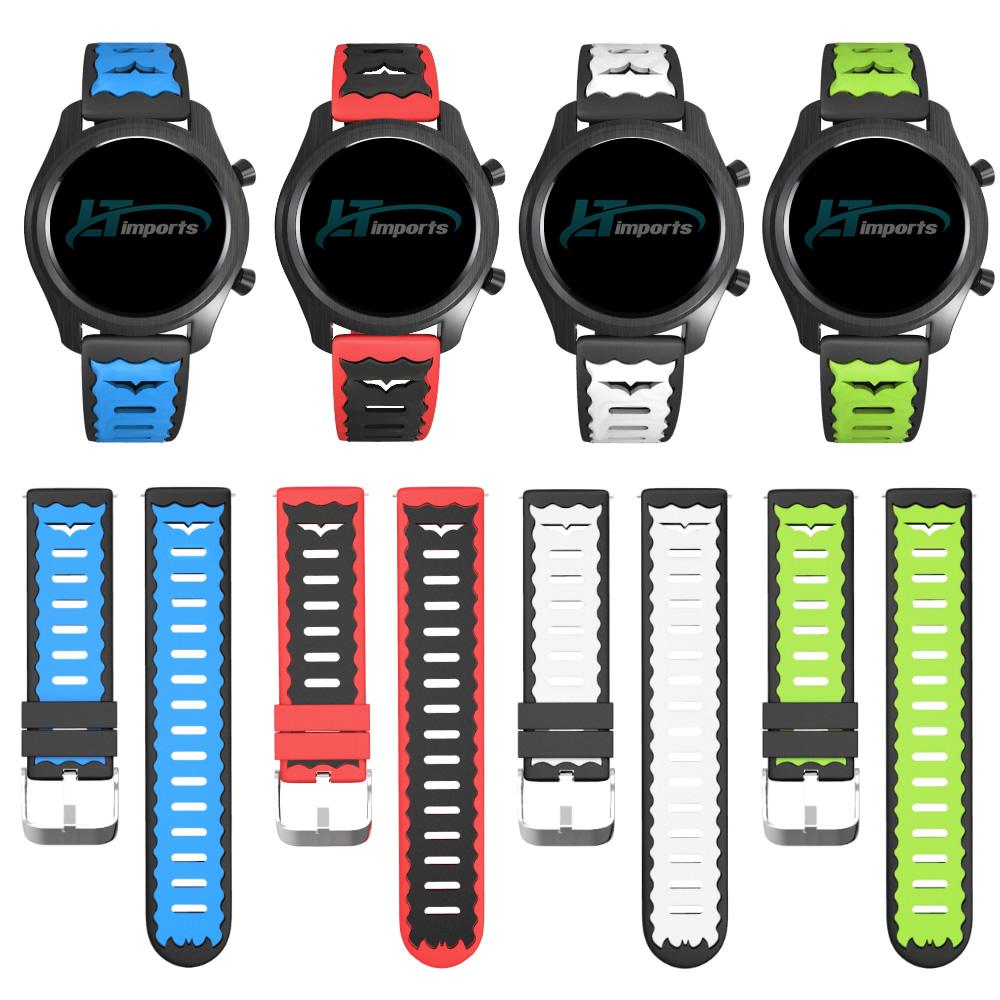 Pulseira 22mm Rock compatível com Galaxy Watch 3 45mm - Galaxy Watch 46mm - Gear S3 Frontier - Amazfit GTR 47mm