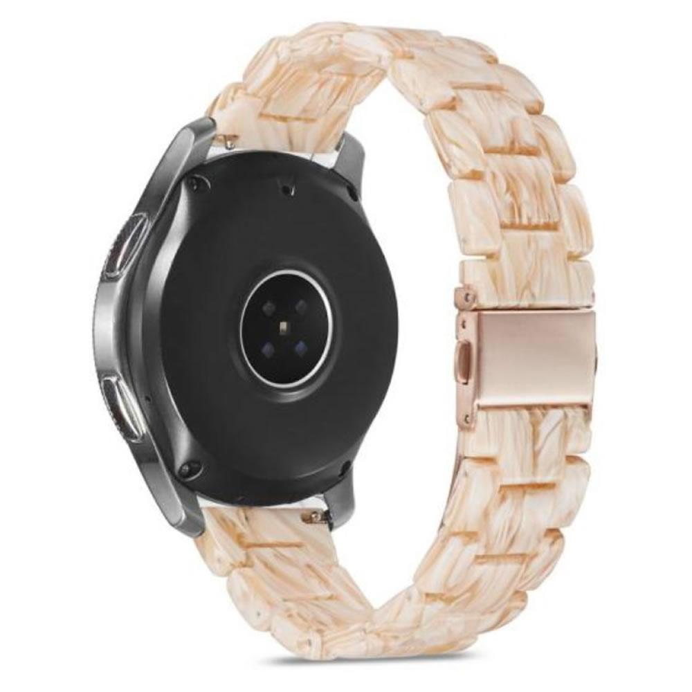 Pulseira 3 Elos Resina compatível com Samsung Galaxy Watch Active 1 e 2 - Galaxy Watch 3 41mm - Galaxy Watch 42mm - Amazfit BIP - GTS - GTR 42mm (Pedra da Lua)