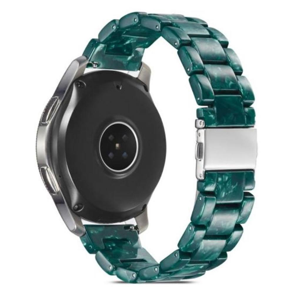 Pulseira 3 Elos Resina compatível com Samsung Galaxy Watch Active 1 e 2 - Galaxy Watch 3 41mm - Galaxy Watch 42mm - Amazfit BIP - GTS - GTR 42mm (Esmeralda)