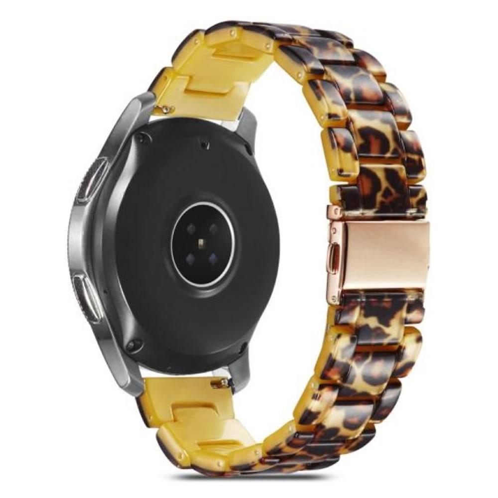 Pulseira 3 Elos Resina compatível com Samsung Galaxy Watch Active 1 e 2 - Galaxy Watch 3 41mm - Galaxy Watch 42mm - Amazfit BIP - GTS - GTR 42mm (Animal Print)
