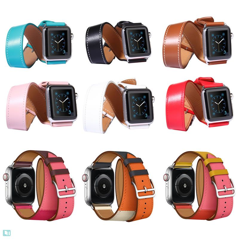 c6d6a847891 Pulseira Couro Apple Watch Hermes Double Tour 40mm 38mm