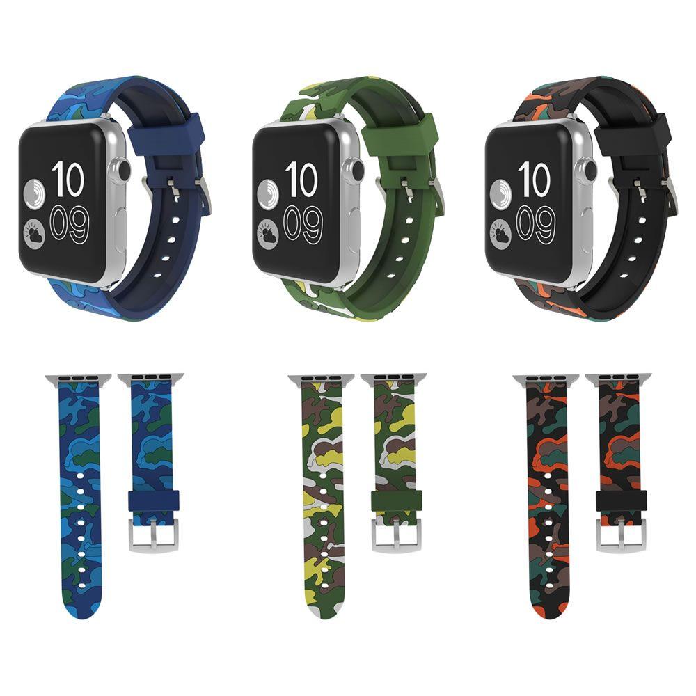 Pulseira Militar Camuflada compatível com Apple Watch 40mm e 38mm