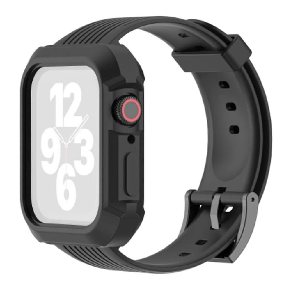 Pulseira Capa Armadura compatível com Apple Watch 40mm Series 4, 5, 6 e SE (Preto)