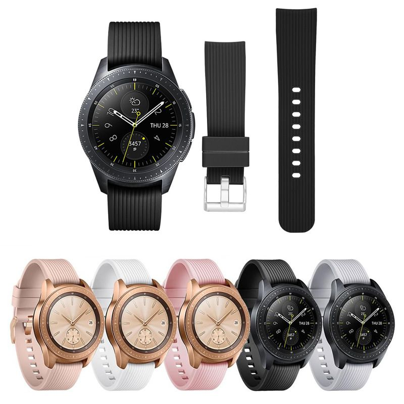 Pulseira Classica compatível com Samsung Galaxy Watch Active 40mm 44mm - Galaxy Watch 3 41mm - Galaxy Watch 42mm - Amazfit GTR 42mm - Amazfit Bip
