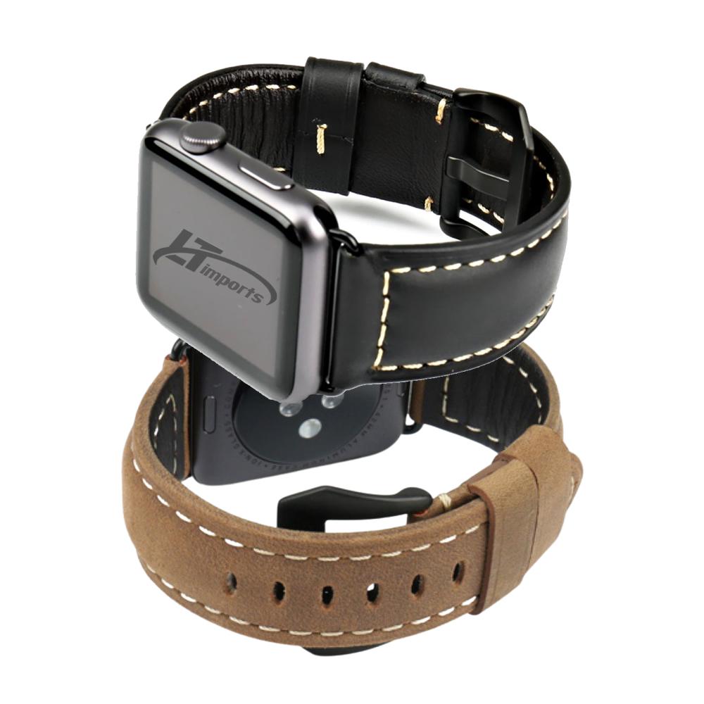 Pulseira Couro BK compatível com Apple Watch 40mm e Apple Watch 38mm