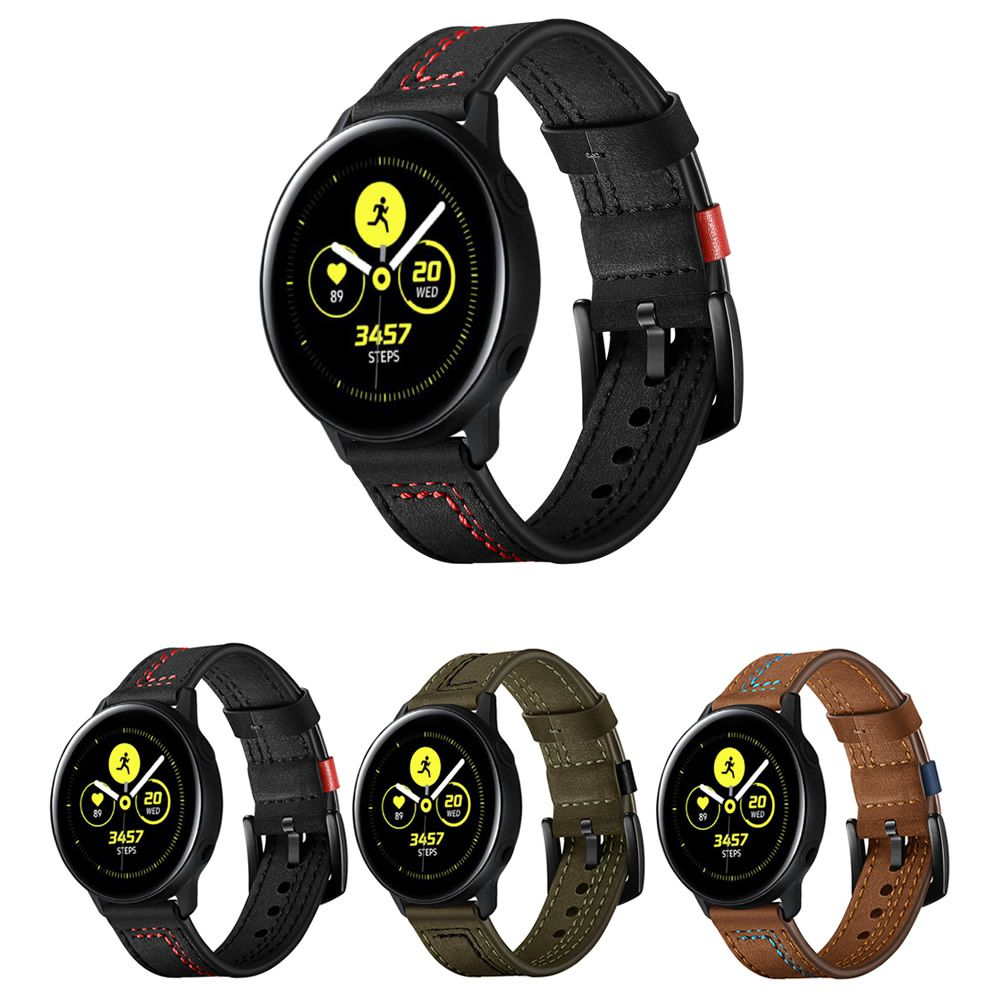Pulseira Couro Especial compatível com Samsung Galaxy Watch Active 40mm 44mm - Galaxy Watch 3 41mm - Galaxy Watch 42mm - Amazfit GTR 42mm Amazfit Bip