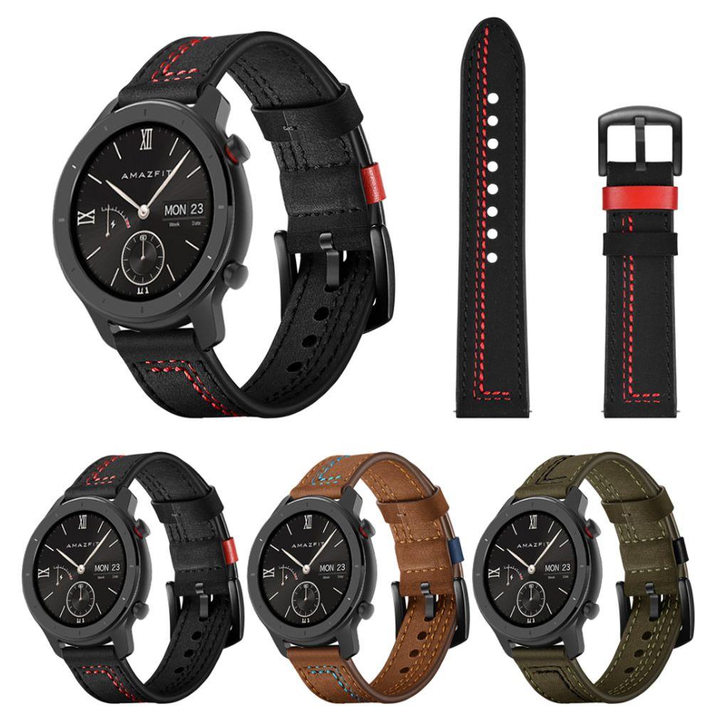 Pulseira Couro Especial compatível com Samsung Galaxy Watch 3 45mm - Galaxy Watch 46mm - Gear S3 Frontier - Amazfit GTR 47mm - Huawei Watch GT 2 46mm