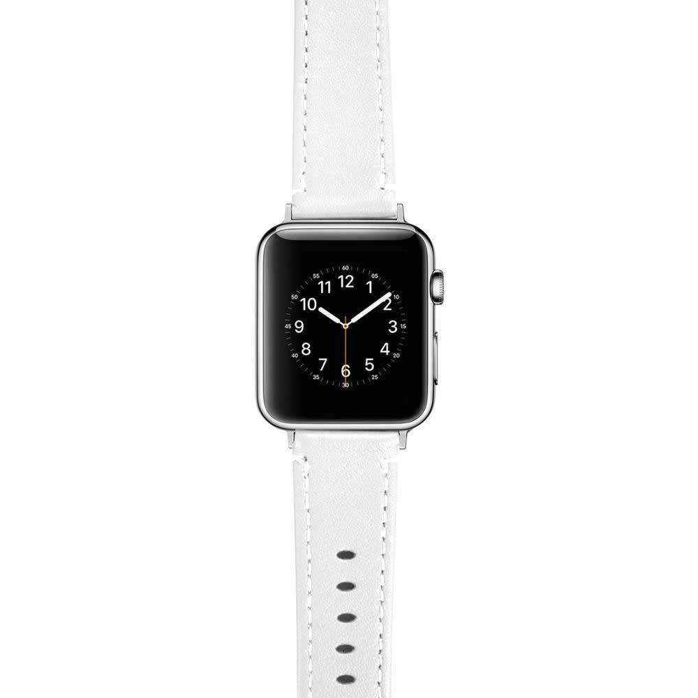 Pulseira de Couro compatível com Apple Watch 40mm e 38mm (BRANCO)