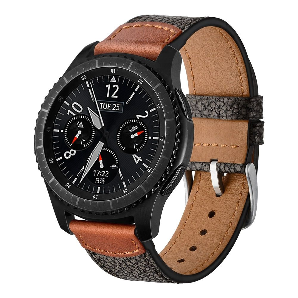 Pulseira Couro compatível com Samsung Galaxy Watch 3 45mm - Galaxy Watch 46mm - Gear S3 Frontier - Amazfit GTR 47mm