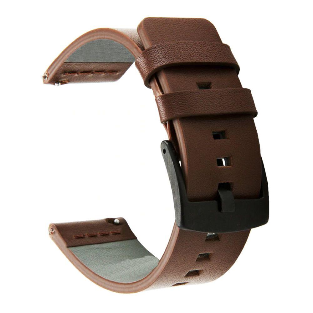 Pulseira 20mm Couro compatível com Samsung Galaxy Watch Active 1 e 2 - Galaxy Watch 3 41mm - Galaxy Watch 42mm - Amazfit GTR 42mm (MARROM)