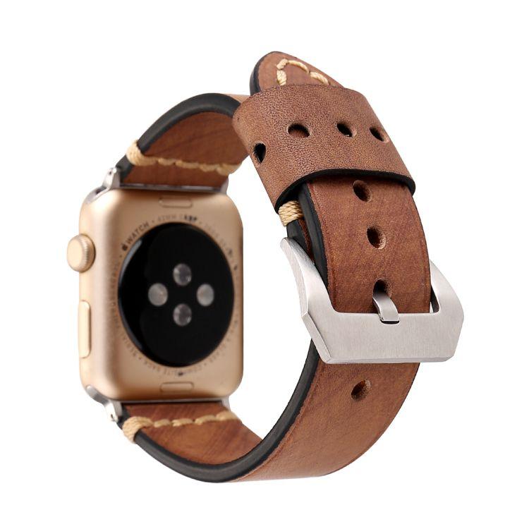 Pulseira de Couro Tour para Apple Watch 44mm e 42mm (Caqui)
