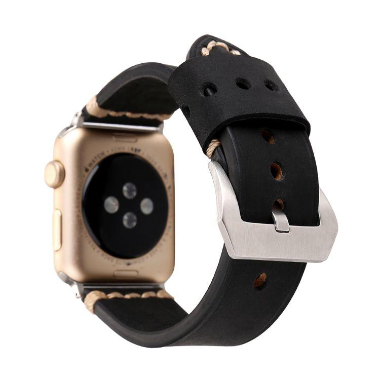 Pulseira de Couro Tour compatível com Apple Watch 44mm e 42mm (PRETO)