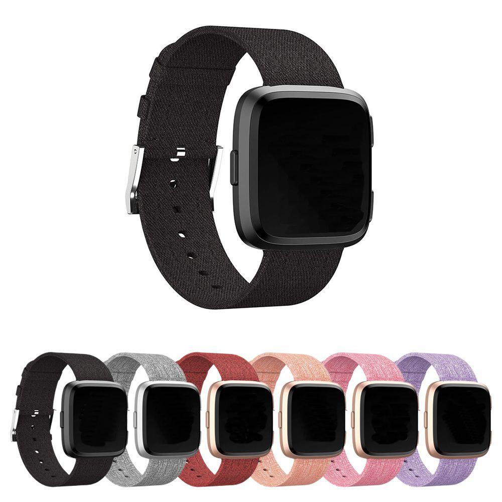 Pulseira de Nylon para Fitbit Versa - Fitbit Versa 2 - Fitbit Versa Lite