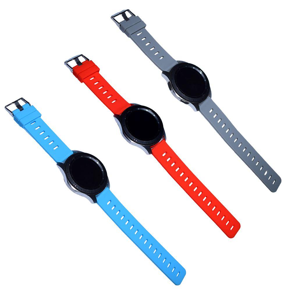 Pulseira Silicone compatível com Samsung Galaxy Watch 3 45mm - Galaxy Watch 46mm - Gear 2 Gear S3 Frontier - Amazfit GTR 47mm - Huawei Watch GT2 46mm